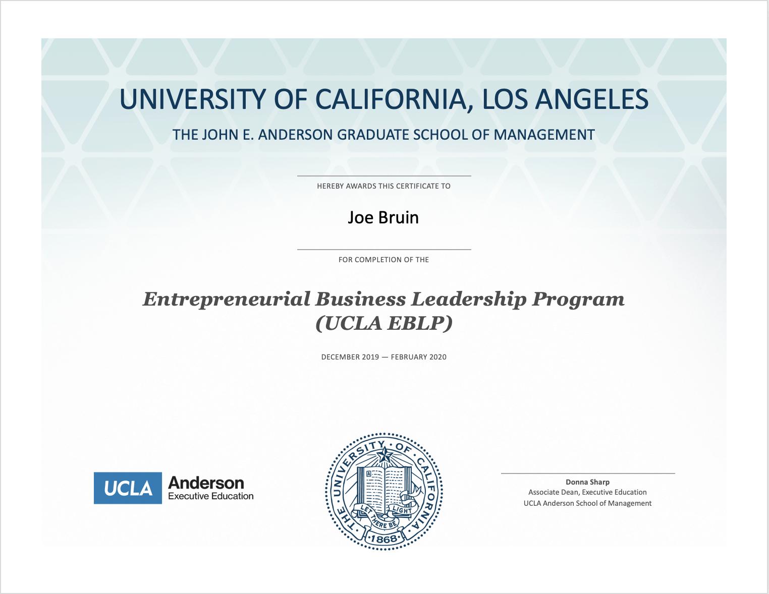 ucla eblp certificate